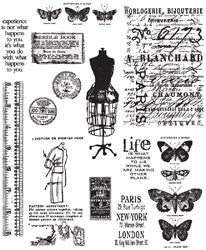 Tim Holtz Large Cling Rubber Stamp Set Attic Treasures