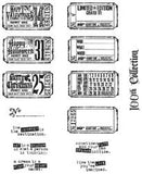 Tim Holtz Large Cling Rubber Stamp Set Odds and Ends