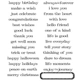 Tim Holtz Large Cling Rubber Stamp Set Simple Sayings