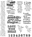 Tim Holtz Large Cling Rubber Stamp Set Stuff To Say