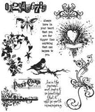 Tim Holtz Large Cling Rubber Stamp Set Urban Chic