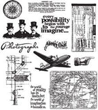 Tim Holtz Large Cling Rubber Stamp Set Warehouse District