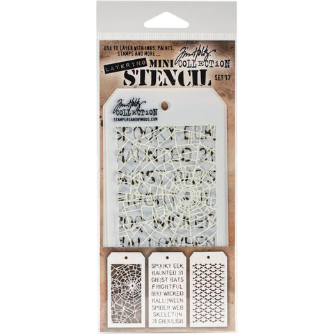 Tim Holtz Mini Layered Stencil Set #17