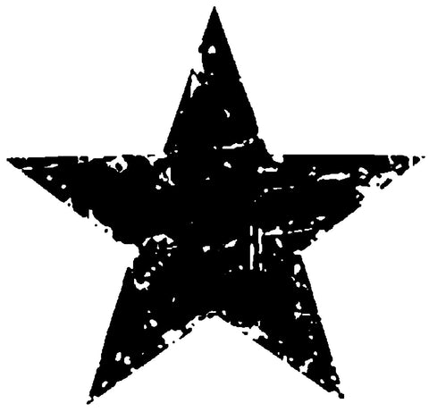 Tim Holtz Wood Mounted Rubber Stamp Star Silhouette 1.5inx1.5in