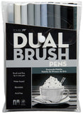 Tombow Dual Brush Pens Grey Scale 10pk