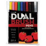 Tombow Dual Brush Pens Primary 10pk