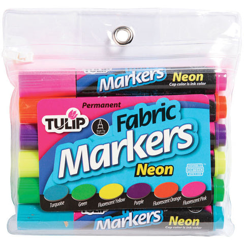 Tulip Fabric Markers Large Neon