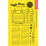Waffle Flower Crafts Clear Stamps Calendar