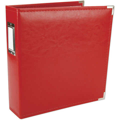 We R Classic Leather D-Ring Album 8.5inX11in Red