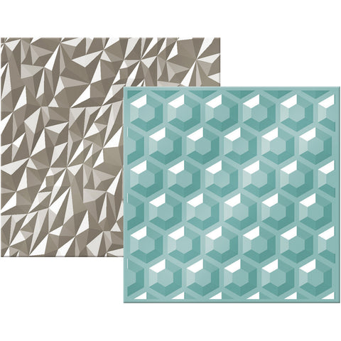 We R Next Level Embossing Folders Gemstone 6inx6in