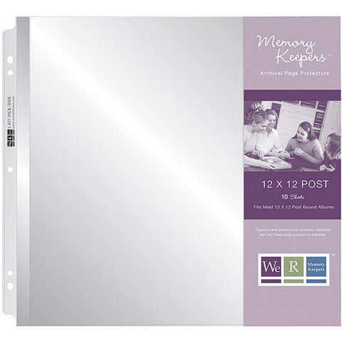 We R Postbound Photo Sleeves 12inx12in 10pk Full Page