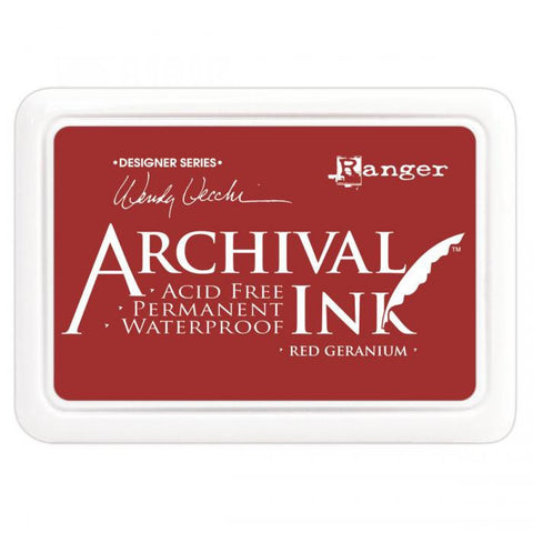 Wendy Vecchi Designer Series Archival Ink Pad Red Geranium