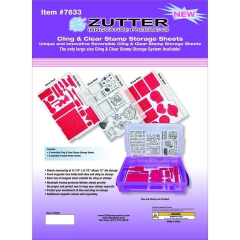Zutter Cling and Clear Stamp Sheets
