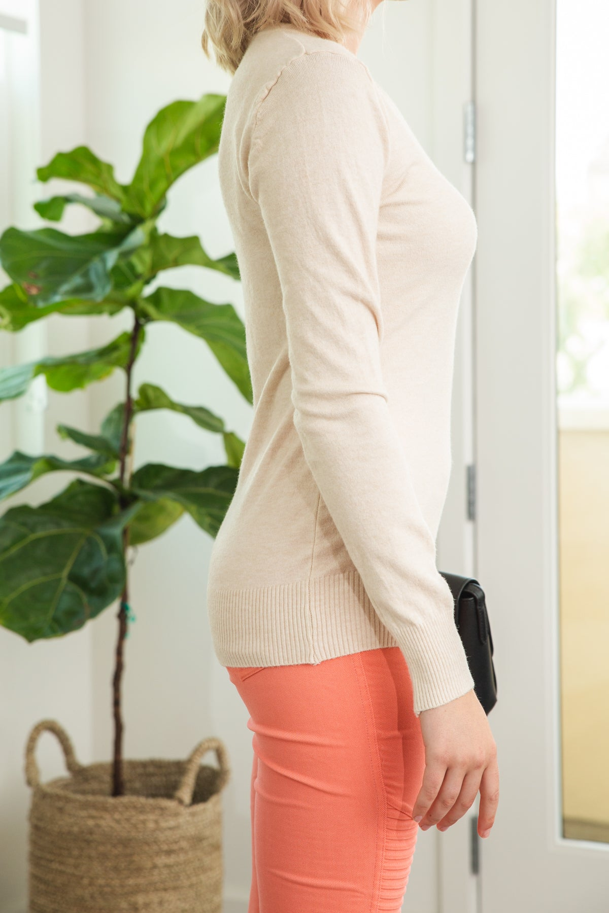 Oh so Cozy V-Neck Sweater in Ivory