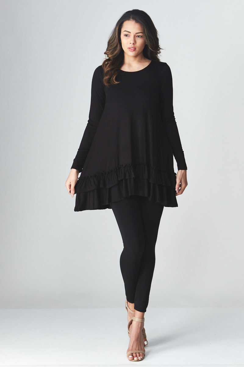 Double Ruffle Tunic - Good Row Clothing  - 21