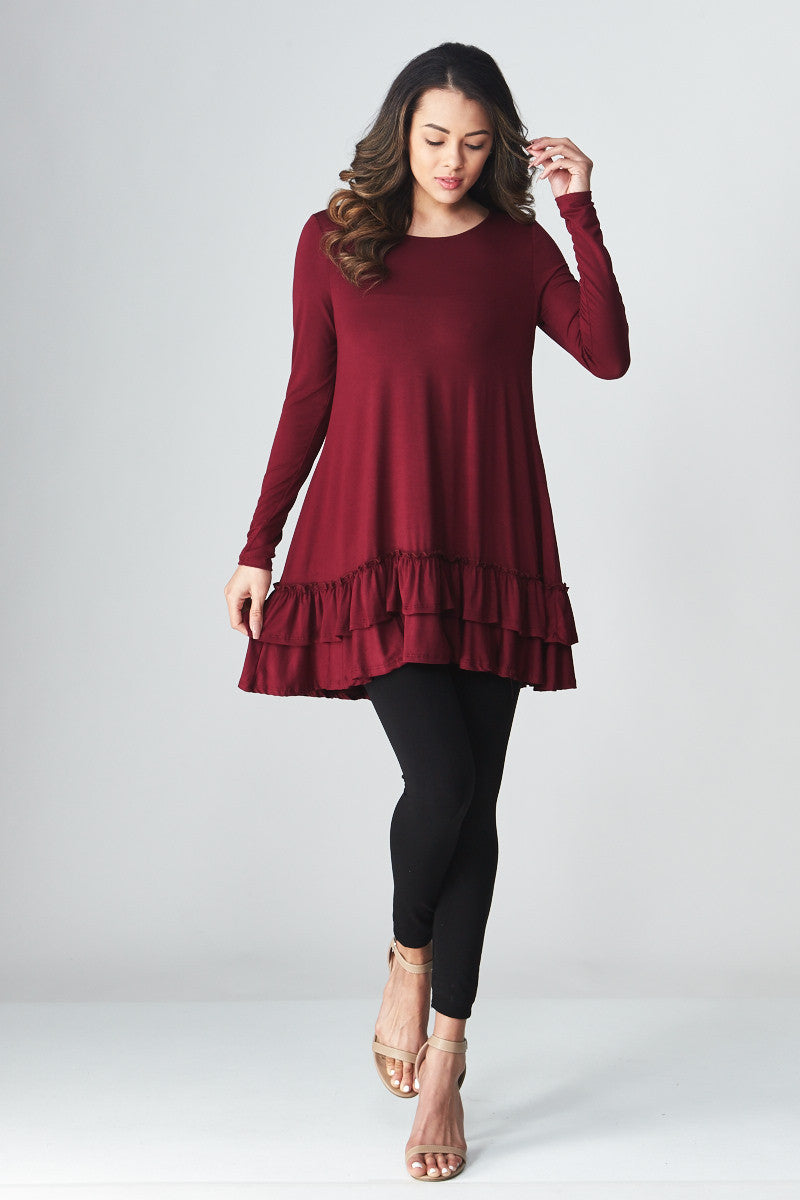 Double Ruffle Tunic - Good Row Clothing  - 19