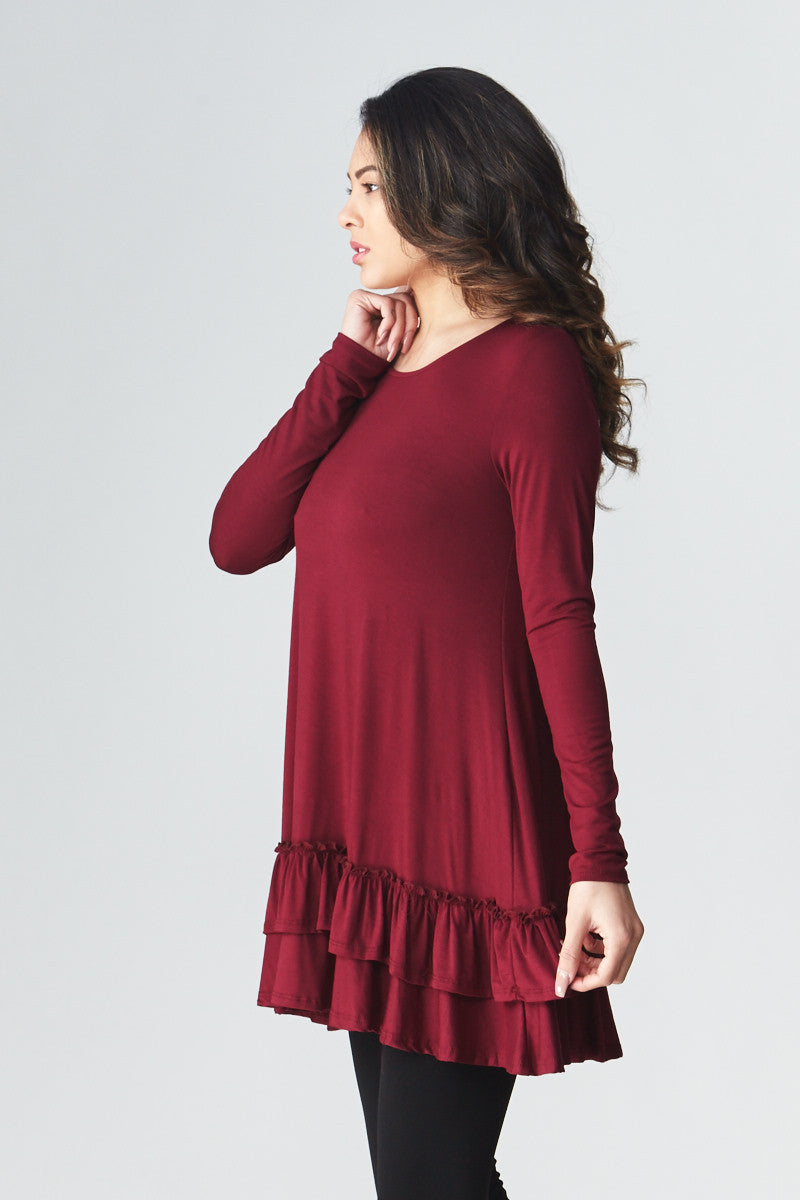 Double Ruffle Tunic - Good Row Clothing  - 18