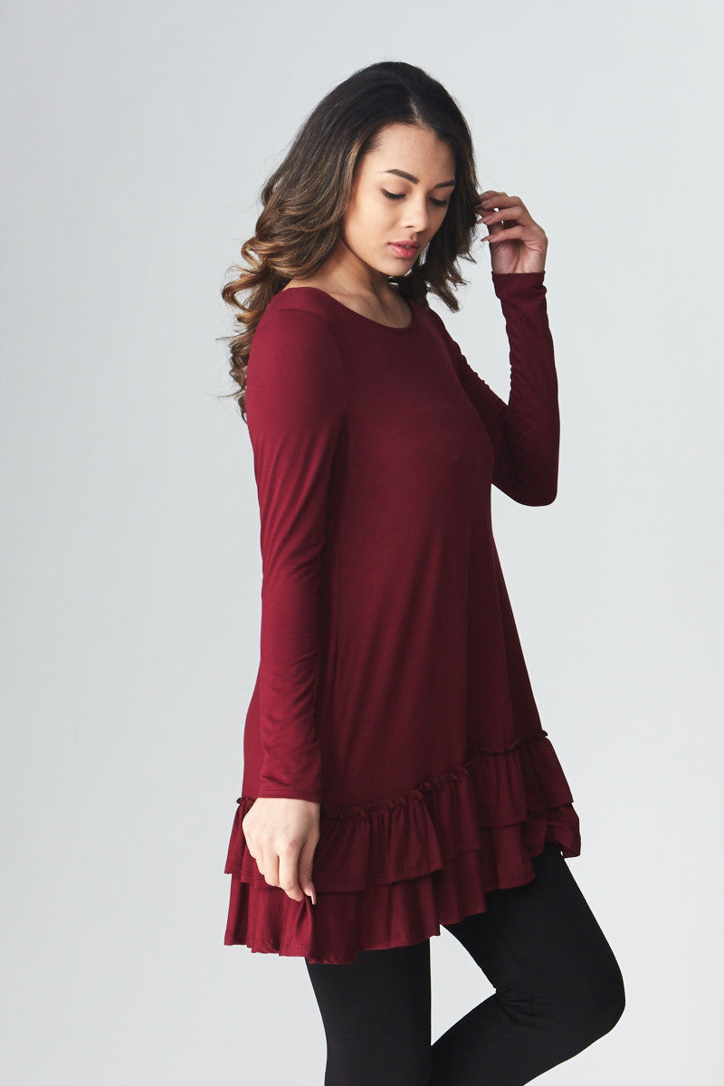 Double Ruffle Tunic - Good Row Clothing  - 17