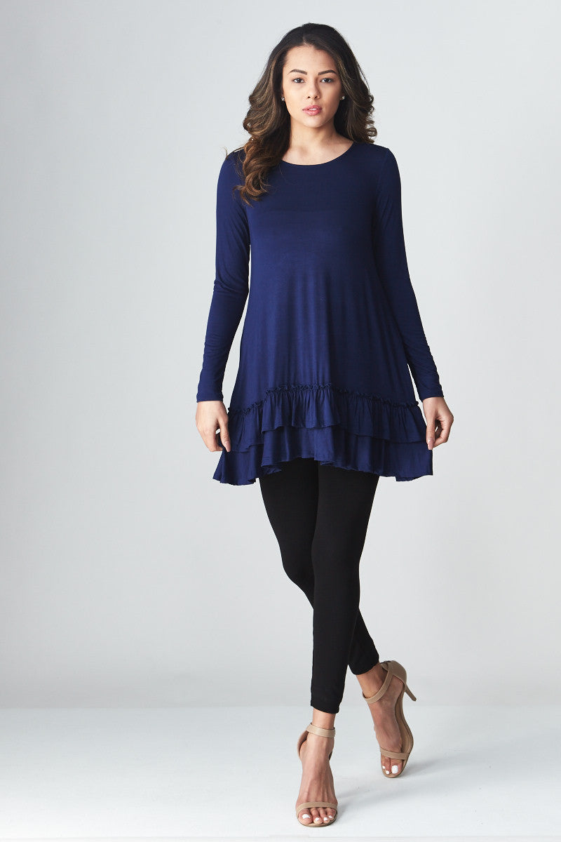 Double Ruffle Tunic - Good Row Clothing  - 11