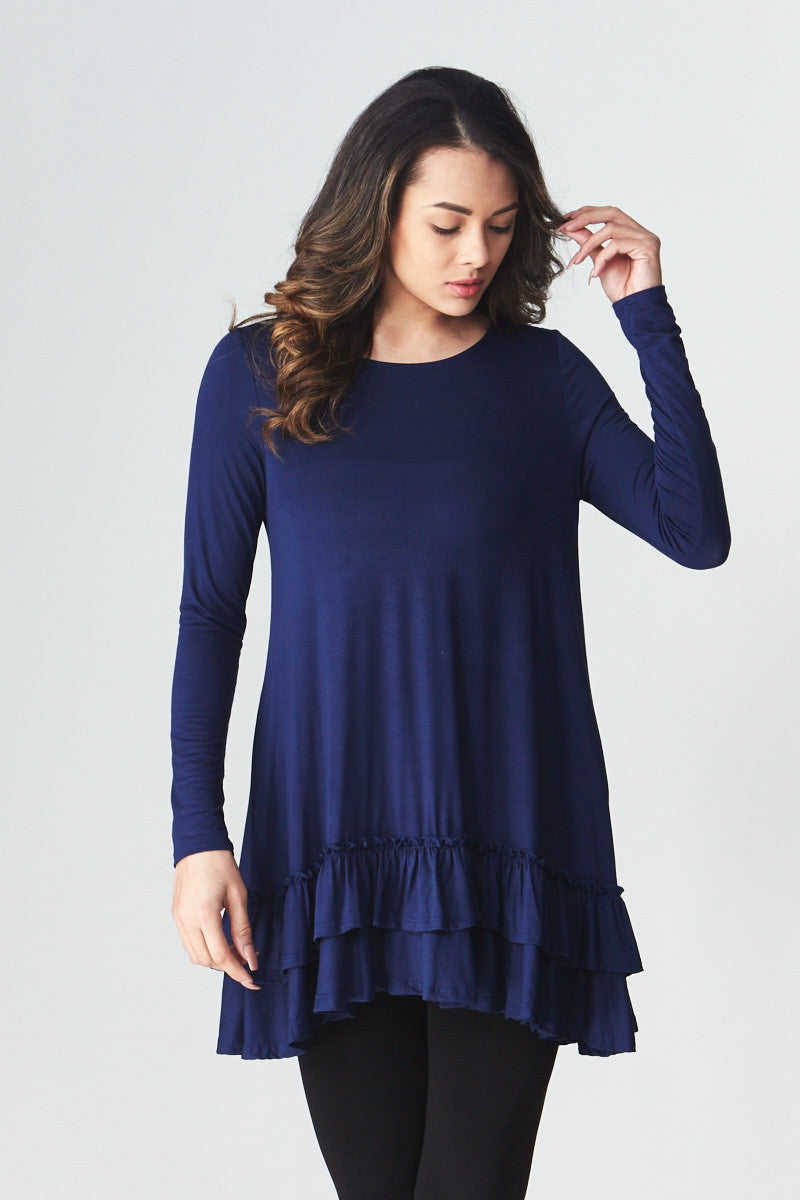 Double Ruffle Tunic - Good Row Clothing  - 14