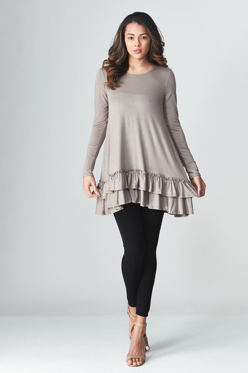 Double Ruffle Tunic - Good Row Clothing  - 5