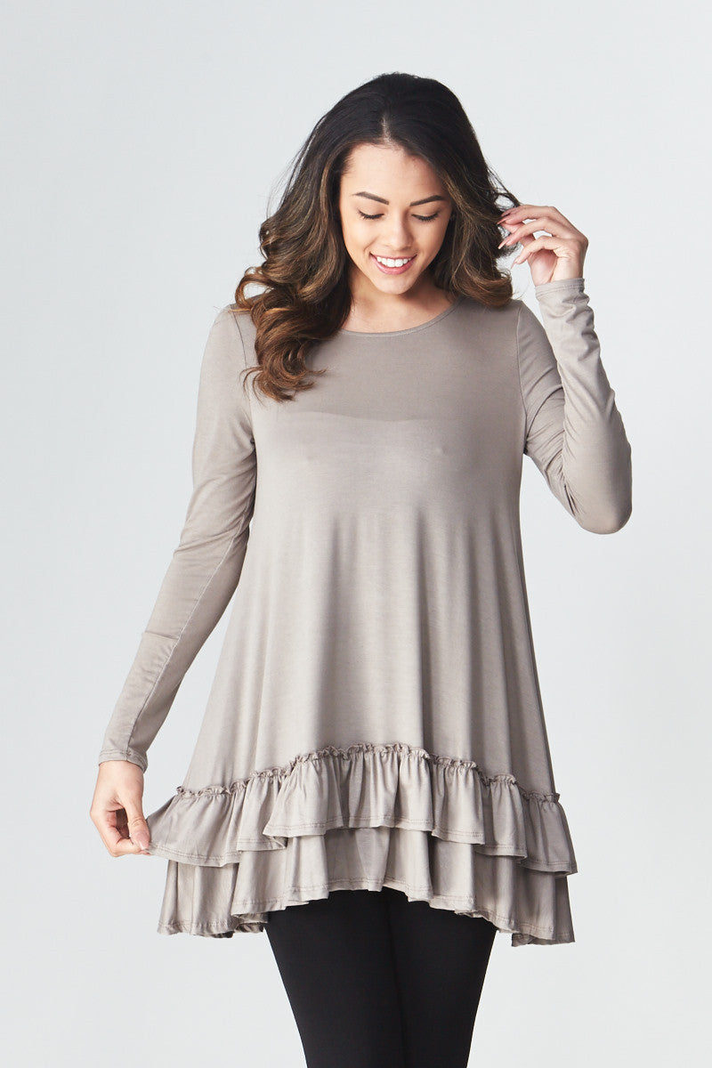 Double Ruffle Tunic - Good Row Clothing  - 1
