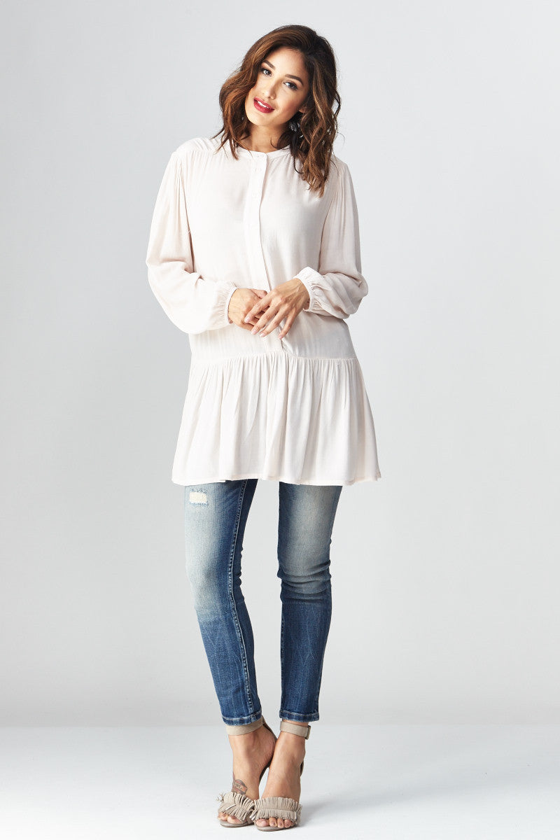 miss love: Flowing with the Peplum Tunic - Good Row Clothing  - 2