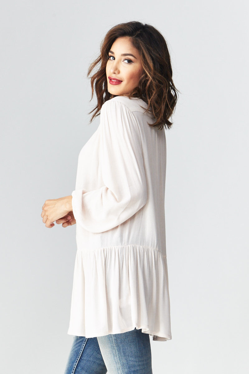 miss love: Flowing with the Peplum Tunic - Good Row Clothing  - 4