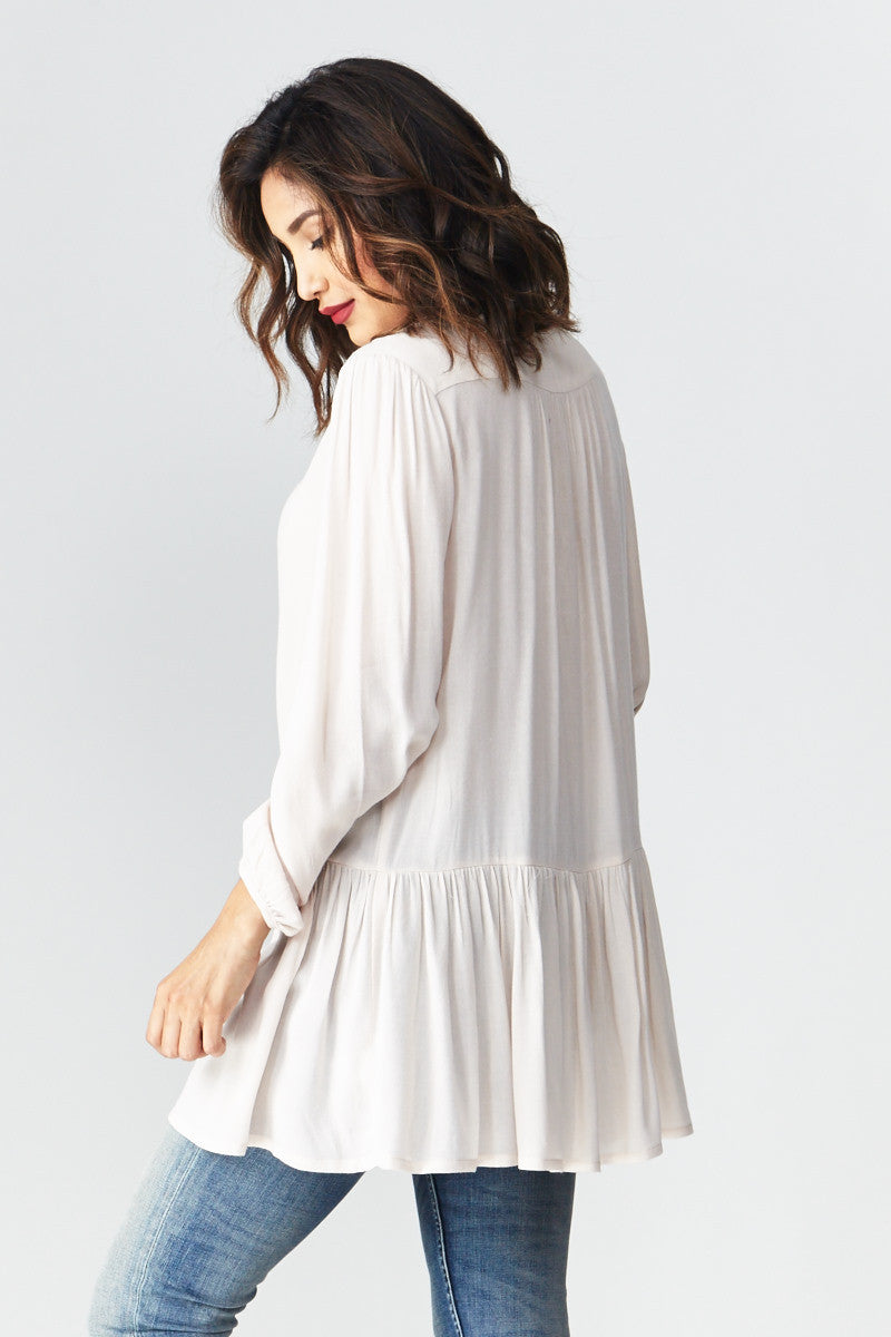miss love: Flowing with the Peplum Tunic - Good Row Clothing  - 3