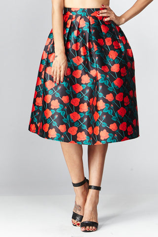 Deco: Darcy Floral A-Line Skirt - Good Row Clothing  - 1