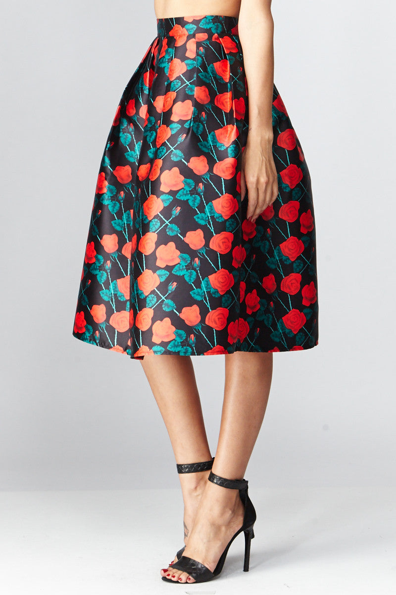 Deco: Darcy Floral A-Line Skirt - Good Row Clothing  - 4