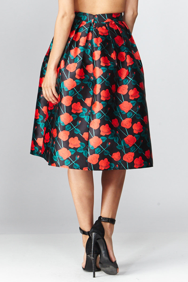Deco: Darcy Floral A-Line Skirt - Good Row Clothing  - 3