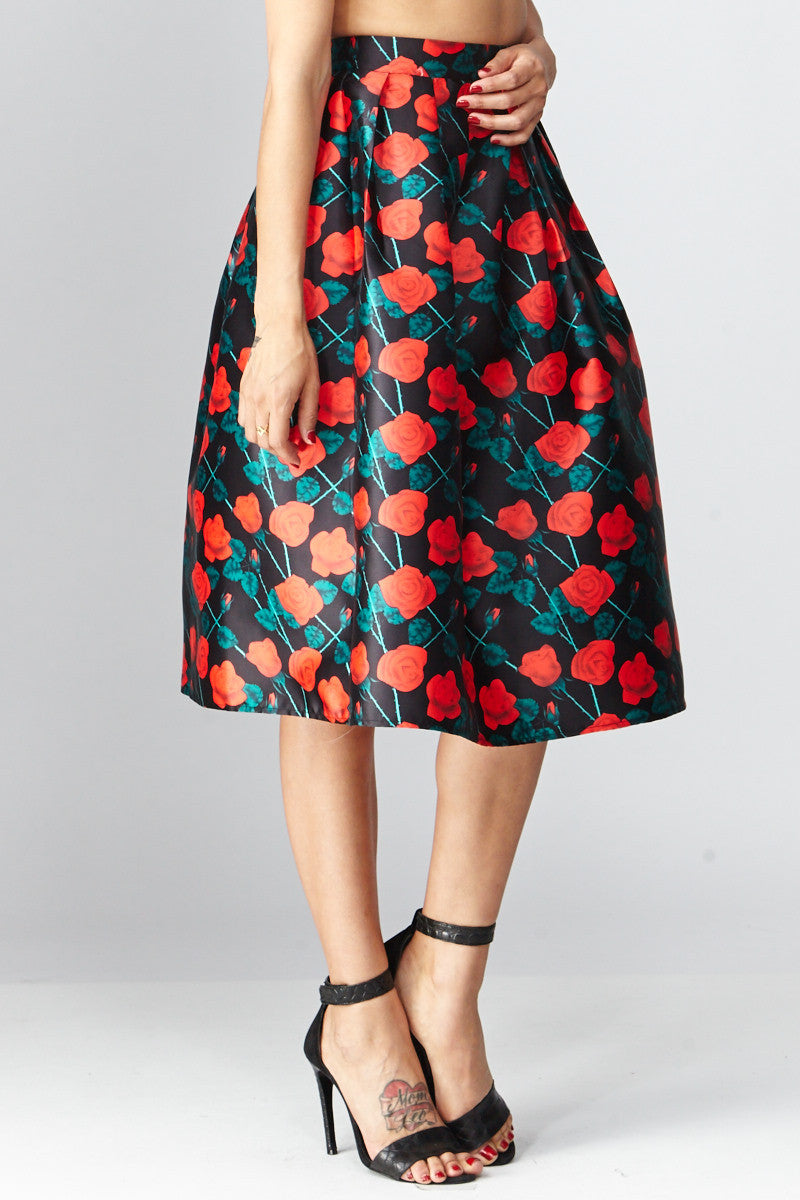 Deco: Darcy Floral A-Line Skirt - Good Row Clothing  - 2