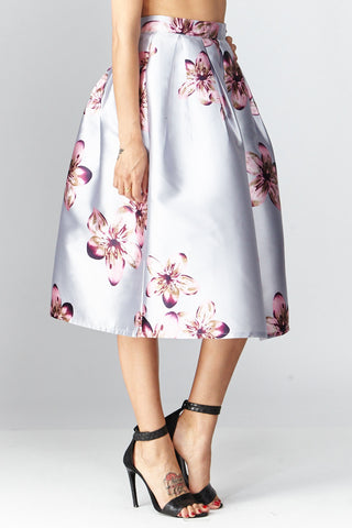 San Souci: Lavishly Floral Midi Skirt - Good Row Clothing  - 1