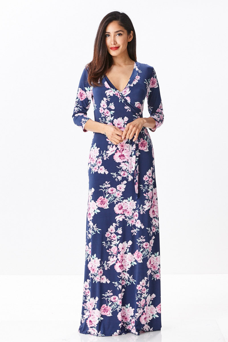 Oh So Divine Maxi Dress in Navy