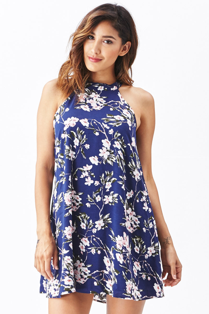 Miss Love: Brunch Date Swing Dress in Navy - Good Row Clothing  - 5