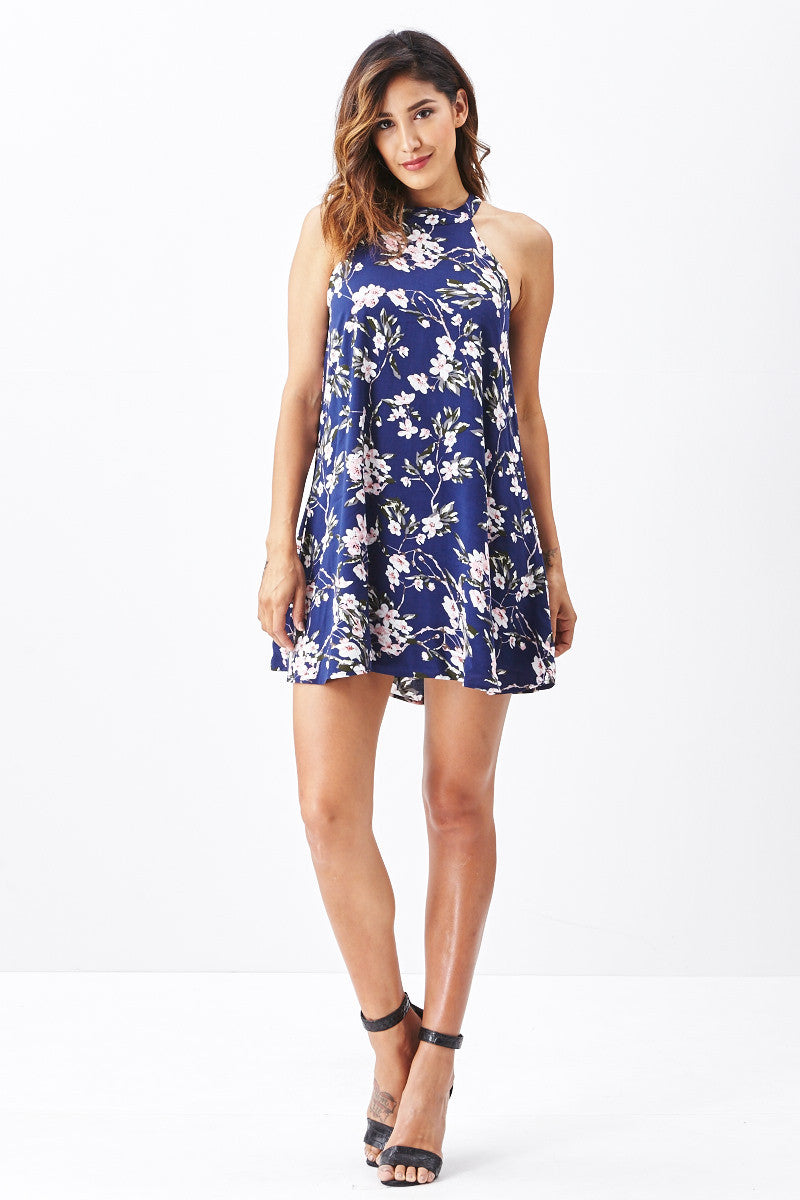 Miss Love: Brunch Date Swing Dress in Navy - Good Row Clothing  - 4