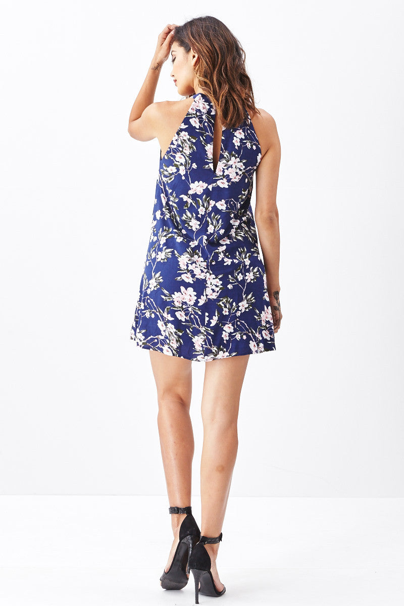 Miss Love: Brunch Date Swing Dress in Navy - Good Row Clothing  - 2