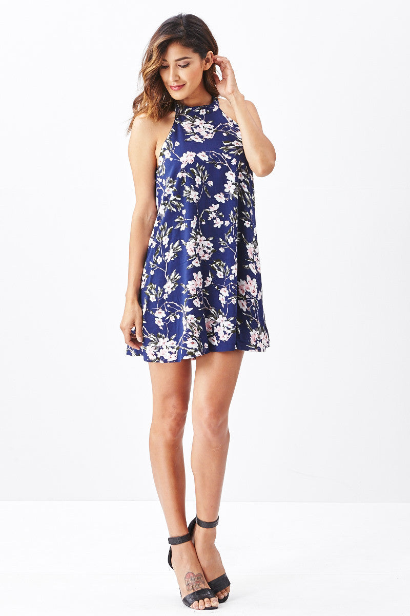 Miss Love: Brunch Date Swing Dress in Navy - Good Row Clothing  - 1