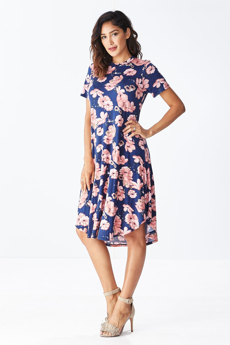 Lounge till Tomorrow Swing Dress in Navy - Good Row Clothing  - 3