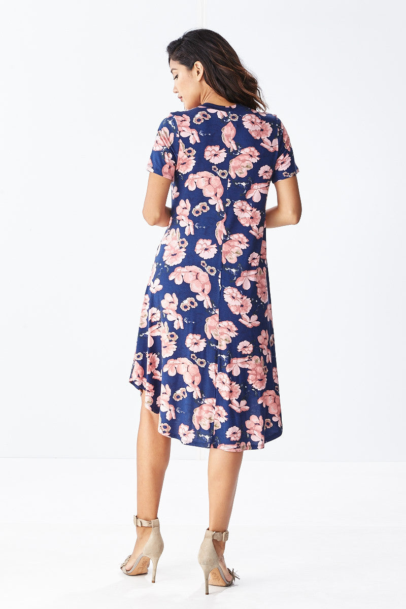 Lounge till Tomorrow Swing Dress in Navy - Good Row Clothing  - 2