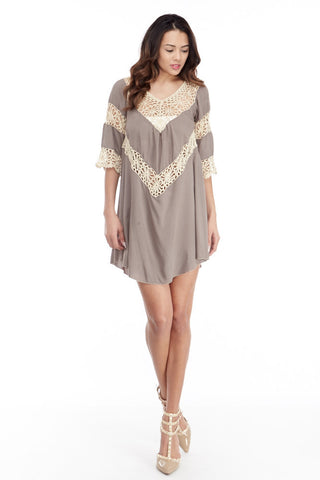 Umgee: Crochet Trim Gauze Tunic - Good Row Clothing  - 1
