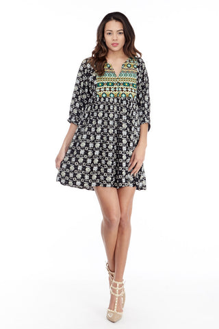 Umgee: BabyDoll Peasant Tunic Dress - Good Row Clothing  - 1