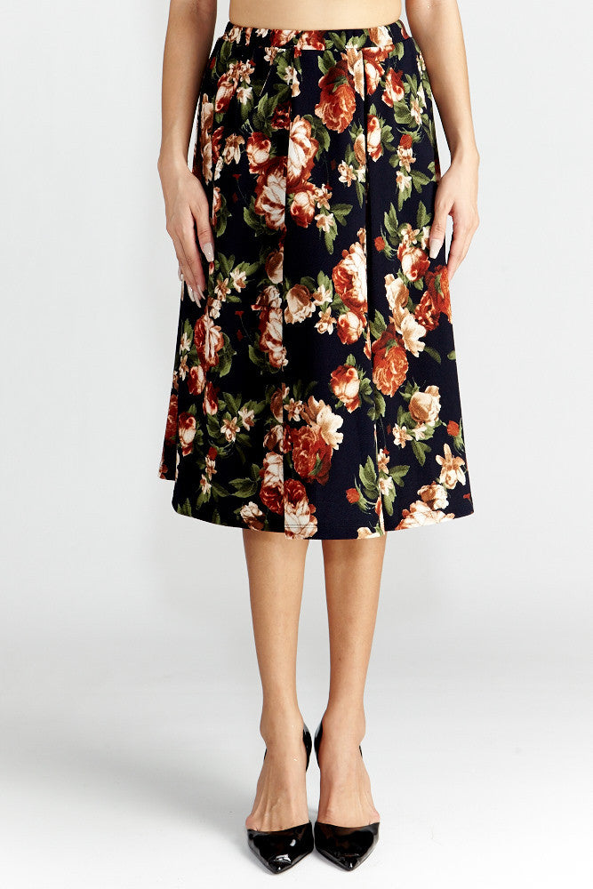 Le Lis: Floral Dance Midi Skirt with Pockets - Good Row Clothing  - 2