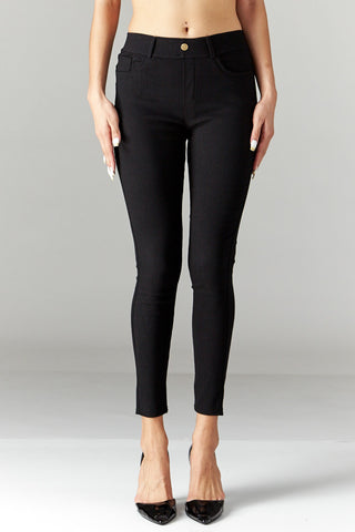 LARA: Solid Style Jeggings in Black - Good Row Clothing  - 1