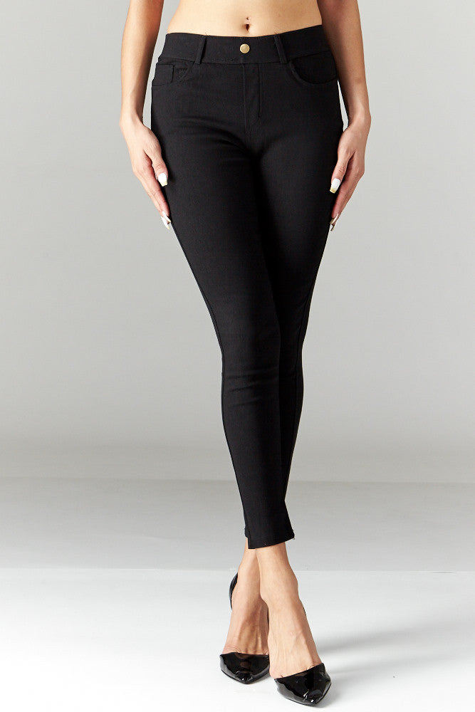 LARA: Solid Style Jeggings in Black - Good Row Clothing  - 2