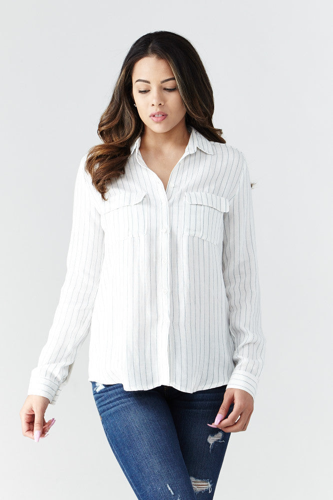 miss love: Calm & Collected Shirt in White - Good Row Clothing  - 1