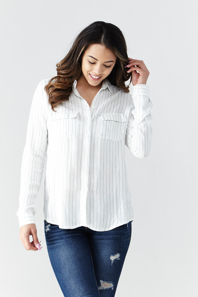 miss love: Calm & Collected Shirt in White - Good Row Clothing  - 3