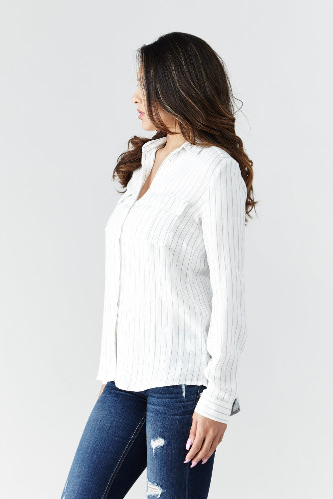 miss love: Calm & Collected Shirt in White - Good Row Clothing  - 4