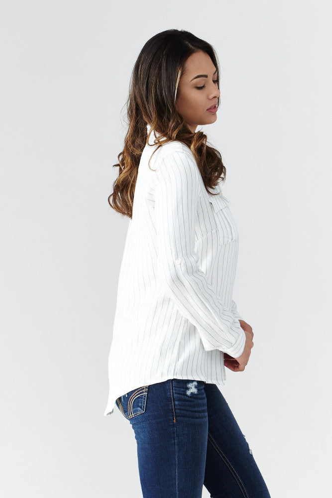 miss love: Calm & Collected Shirt in White - Good Row Clothing  - 2